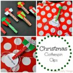 Christmas Clothespin Clips