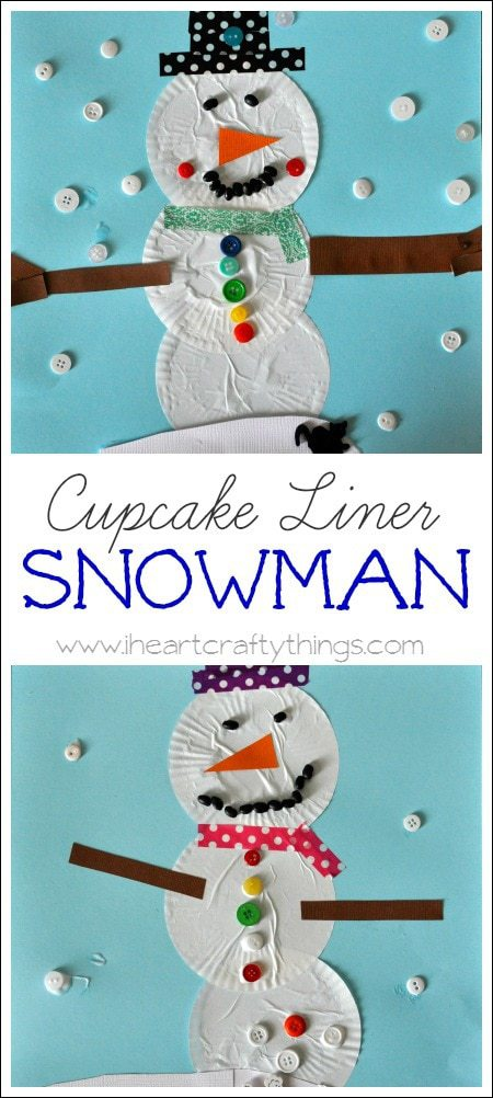 ocean animal cupcake liner crafts cupcake liner snowman craft i crafty things 6973