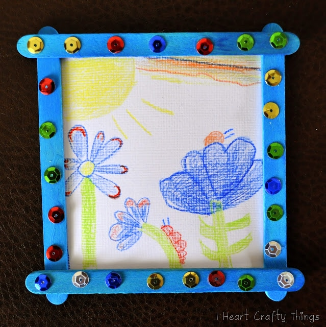 Homemade grandparent christmas gift from kids i heart for Picture frames for crafts