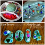 New Year's Gold Glitter Play Dough Invitation to Play