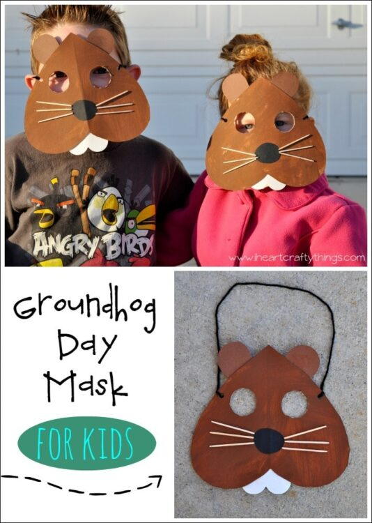 Groundhog Day Mask Craft I Heart Crafty Things