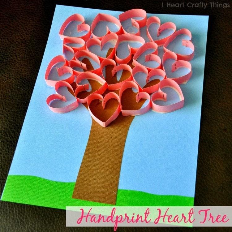 Handprint Heart Tree Craft I Crafty Things
