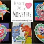 Heart Doily Monster Craft