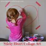 Sticky Heart Collage Art for Kids
