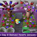 The Day It Rained Hearts Sensory Bin