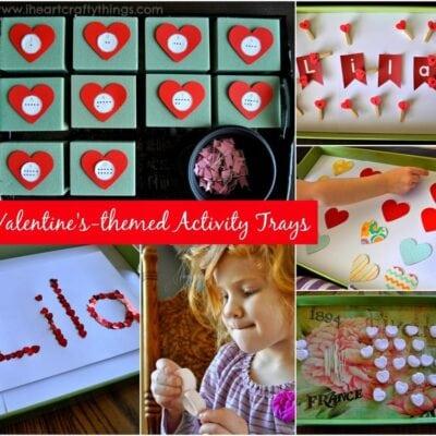 Valentine's Day Themed Preschool Activity Trays
