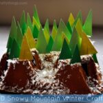 3-D Snowy Mountain Winter Craft (out of Recycled Drink Carrier)