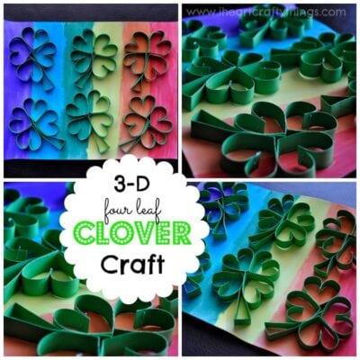 3-D Four Leaf Clover St. Patrick's Day Craft