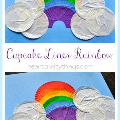 Cupcake Liner Rainbow Craft