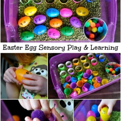 Easter Egg Sensory Play and Learning