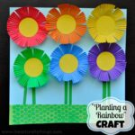 Planting a Rainbow Flower Craft