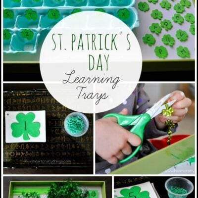 St. Patrick's Day Learning Trays