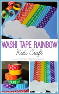 Washi Tape Rainbow Craft