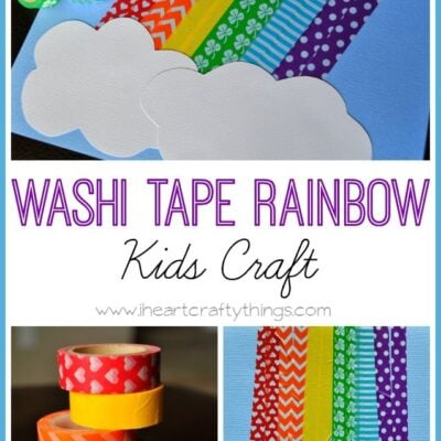 Washi Tape Rainbow Craft