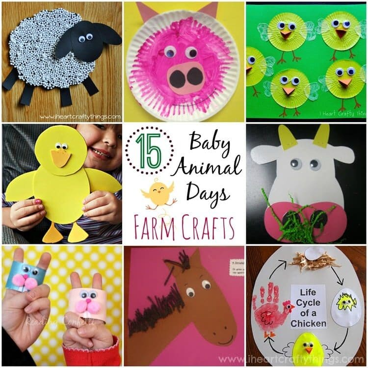 Here Are 15 Adorable Baby Animal Day Farm Crafts Sure To Brighten Any Childs