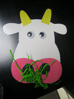 Cow Craft From Kindergarten Rocks