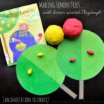 Making Lemon Trees with Lemon Scented Playdough