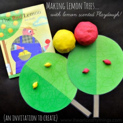 Making Lemon Trees with Lemon Scented Playdough