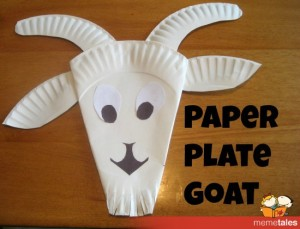 Paper Plate Goat from MeMeTales & 15 Baby Animal Days / Farm Crafts for Kids | I Heart Crafty Things