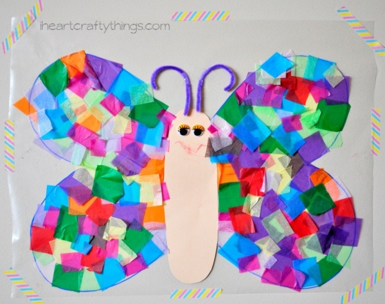 Contact Paper Sticky Wall Butterfly Craft I Heart Crafty Things