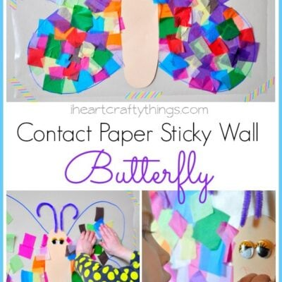 Contact Paper Sticky Wall Butterfly Craft