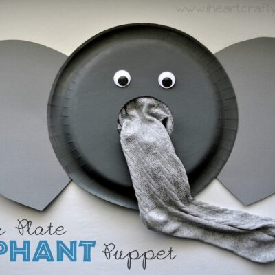 Paper Plate Elephant Puppet Craft
