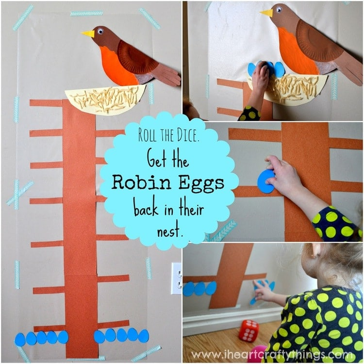 Robin Eggs Math Game with Contact Paper | I Heart Crafty ...