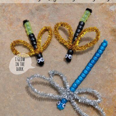 Beaded Dragonfly & Lightning Bugs