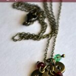 Hand-Stamped Mothers Necklace with Birthstones