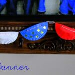 Patriotic Swag Bunting made from Cupcake Liners