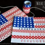 Washi Tape Flag Kids Craft