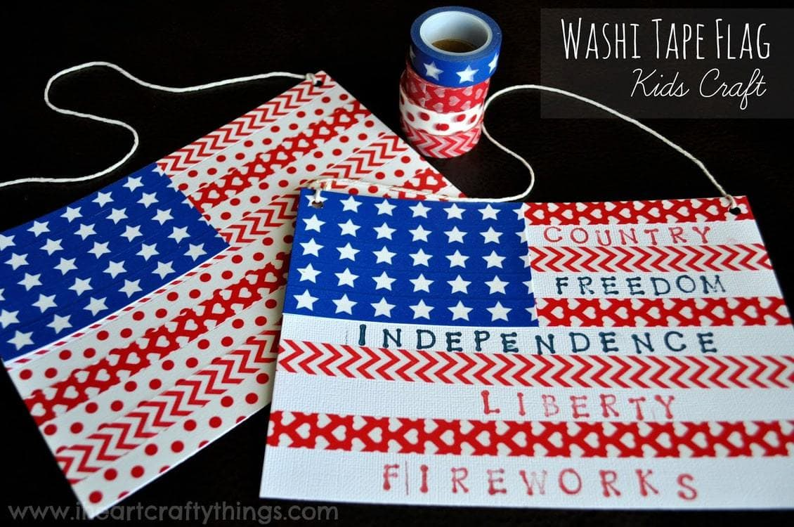 Uncategorized Kids Craft washi tape flag kids craft i heart crafty things