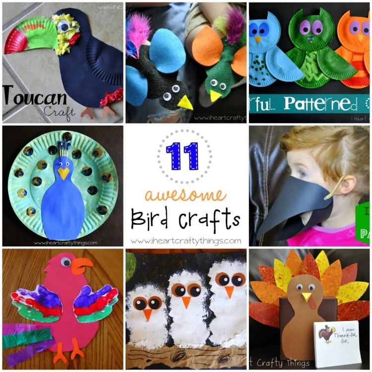 I Thought It Would Be Awesome To Put Together A Round Up Of 11 Our Favorite Bird Crafts So You Can See Them All In One Place