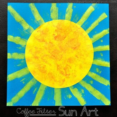 Coffee Filter Sun Art