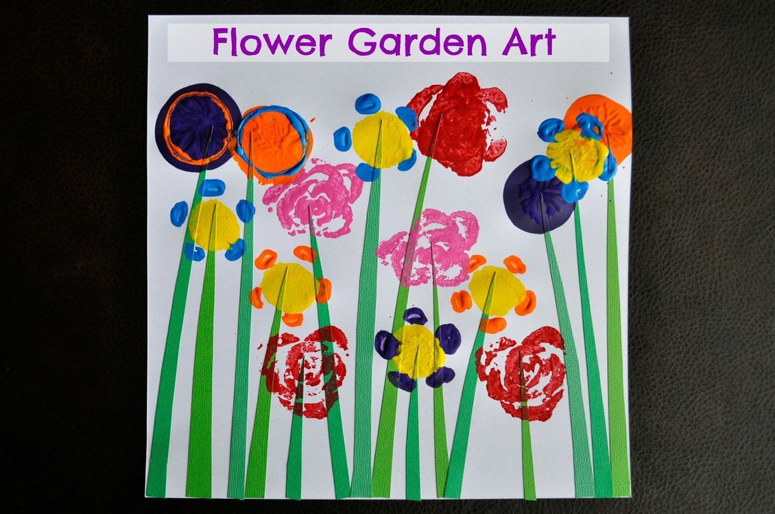 Flower garden art i heart crafty things for Flower arts and crafts