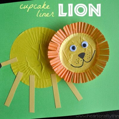 Lion Craft from Cupcake Liners
