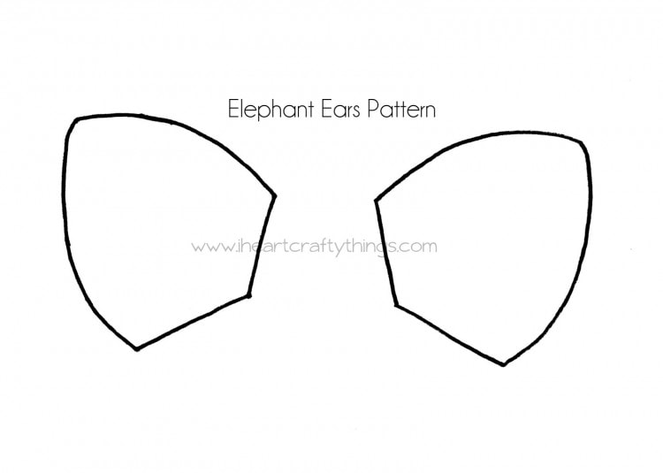 Printable Cat Ears Grey Templates