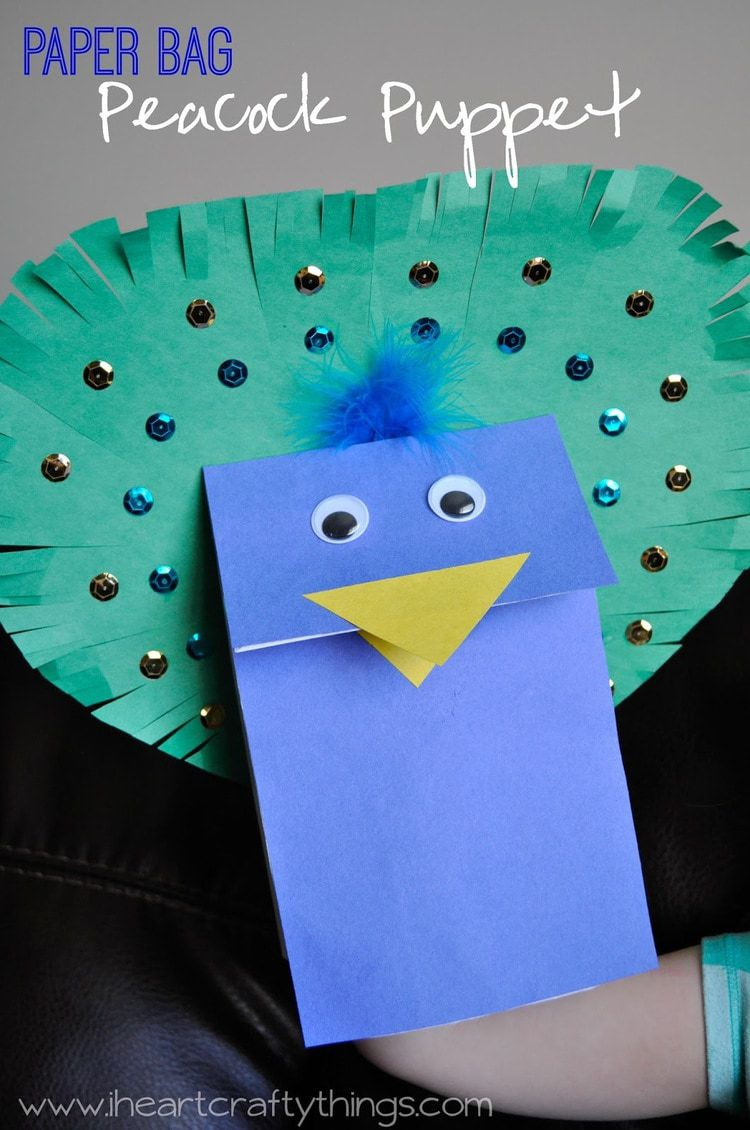 Peacock Puppet Craft + Elmer's Early Learners Prize Pack ...