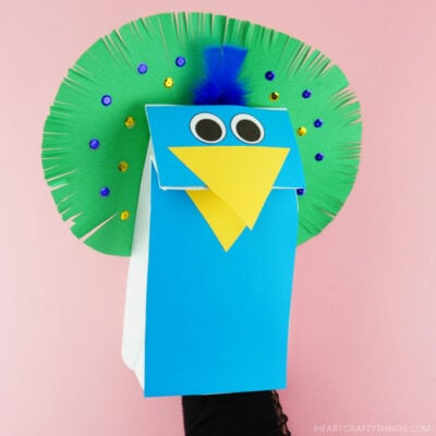 Peacock Puppet Craft