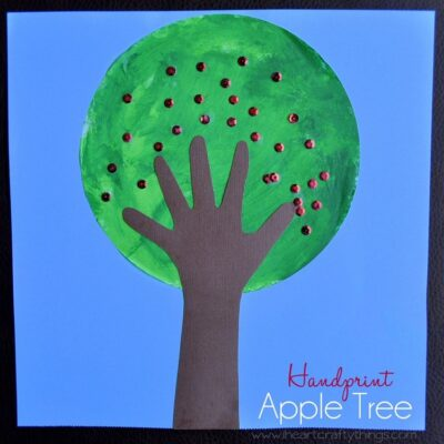 Handprint Apple Tree Craft Tutorial