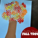 Fall Tree Craft made with Bubble Wrap