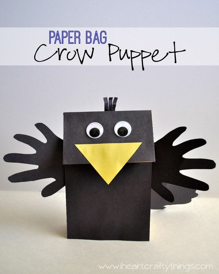 Crow Puppet Craft