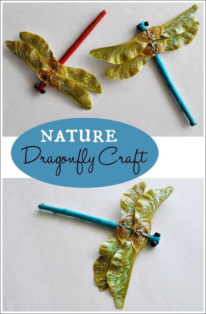 Nature dragonfly craft i heart crafty things for Crafts made from nature