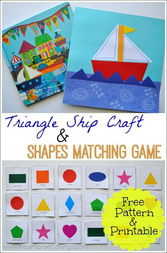 shapes craft ideas triangle ship craft and shape matching i 2912