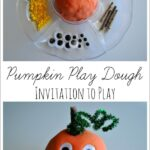 Pumpkin Play Dough Invitation to Play