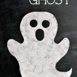 Sponge Painted Ghost Craft