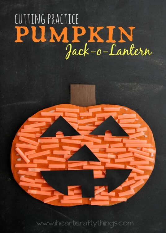 A Fun Pumpkin Jack O Lantern Craft Today Im Sharing With You How To Turn Cutting Practice Activity Into Textured For Halloween