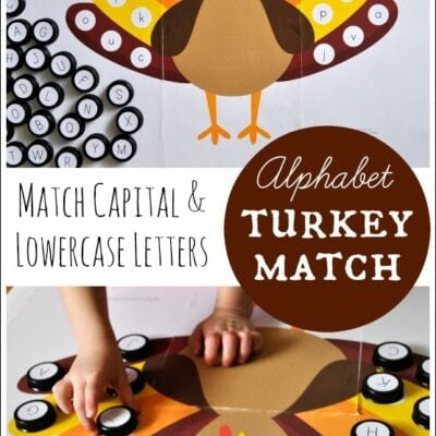 Alphabet Turkey Match {Free Printable}
