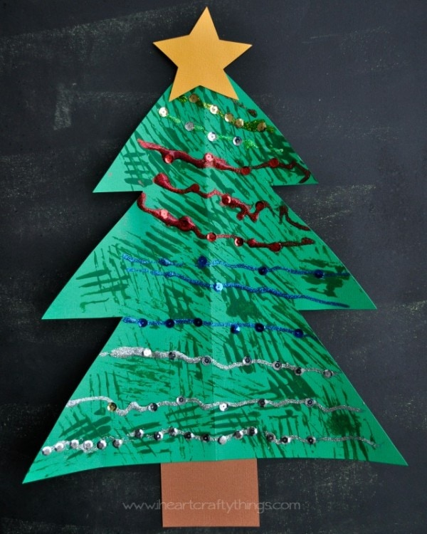 I Heart Christmas.Christmas Tree Fork Painted Craft