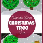 Cupcake Liner Christmas Tree Art